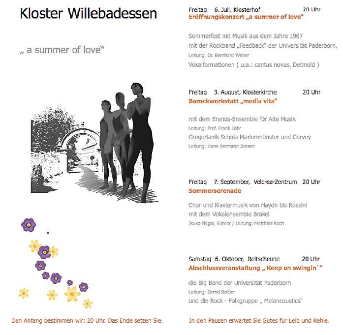 KLANG BILD KLOSTER – Programm Willebadessen