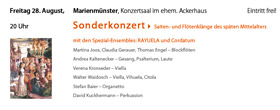 Festival KLANG – BILD – KLOSTER 2009 Sonderkonzerte