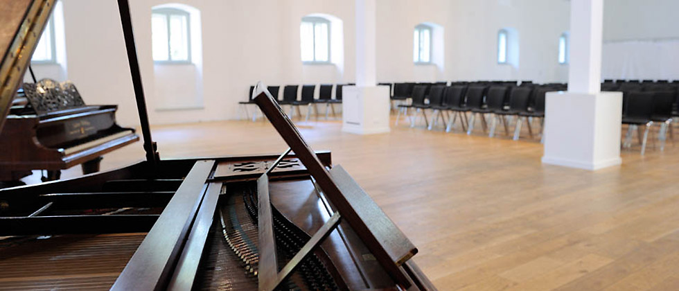 Ausstattung Konzertflügel im Konzertsaal der Kulturstiftung