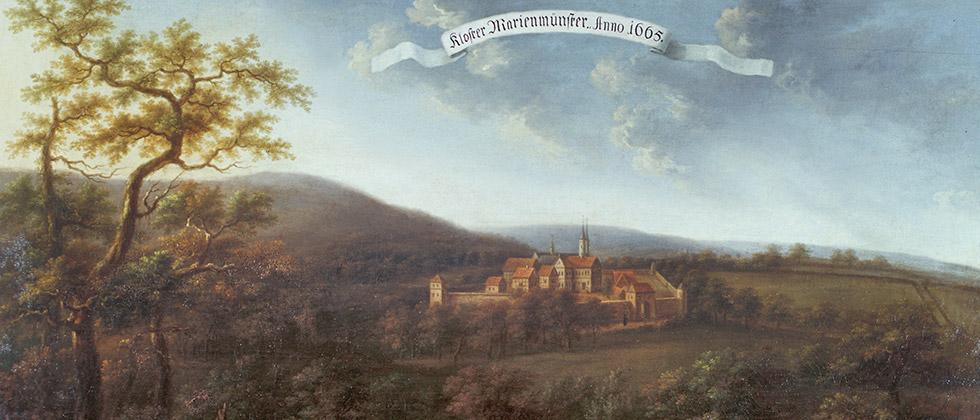 Ansicht von Marienmünster in einem Gemälde von C. F. Fabricius