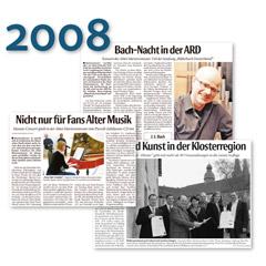 KLANG BILD KLOSTER Presseschau 2008